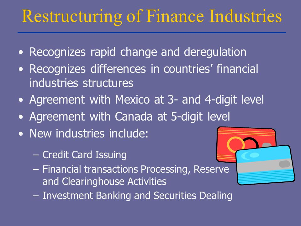 Restructuring of Finance Industries