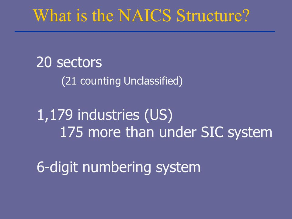 What is the NAICS Structure