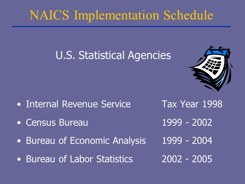 NAICS Implementation Schedule