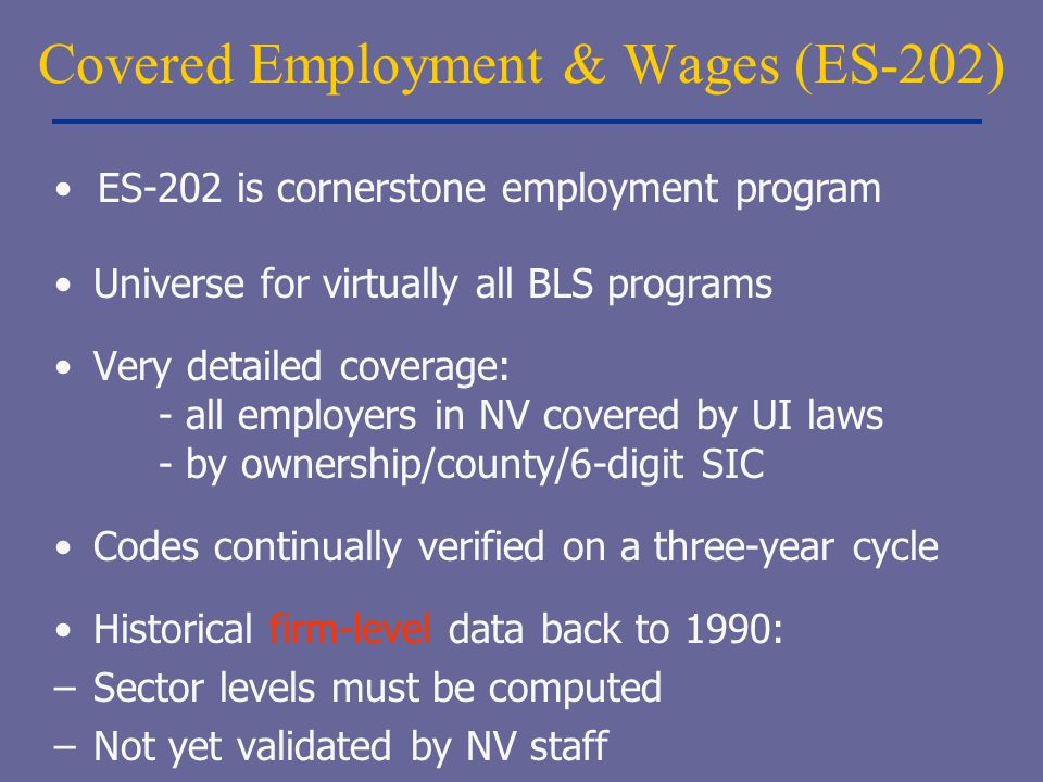 Covered Employment & Wages (ES-202)