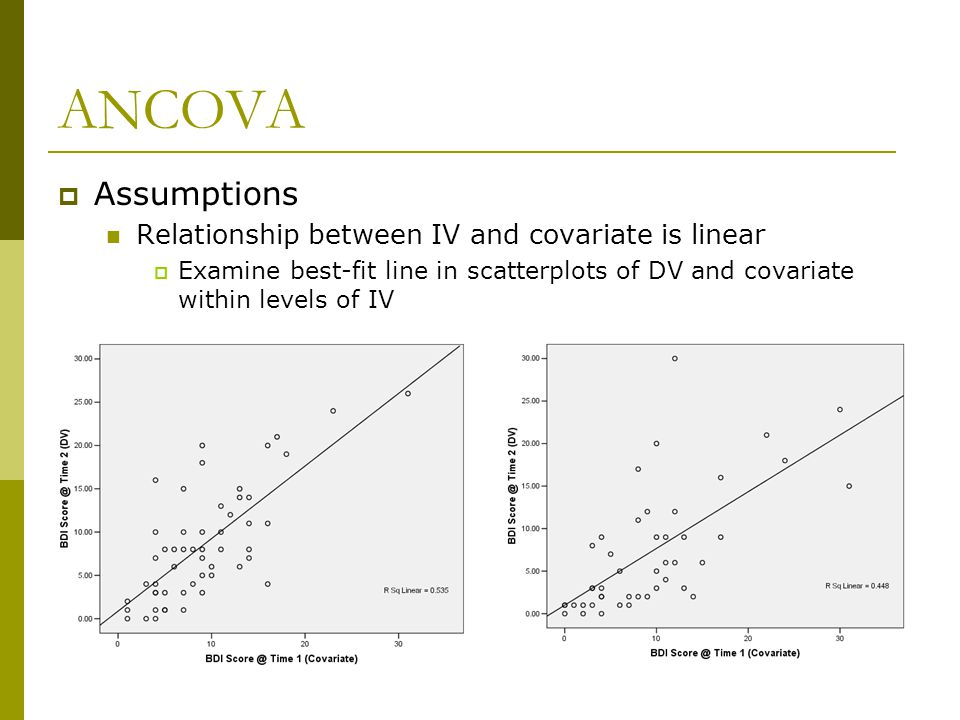 how to choose a covariate in ancova