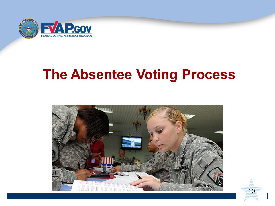 The Absentee Voting Process