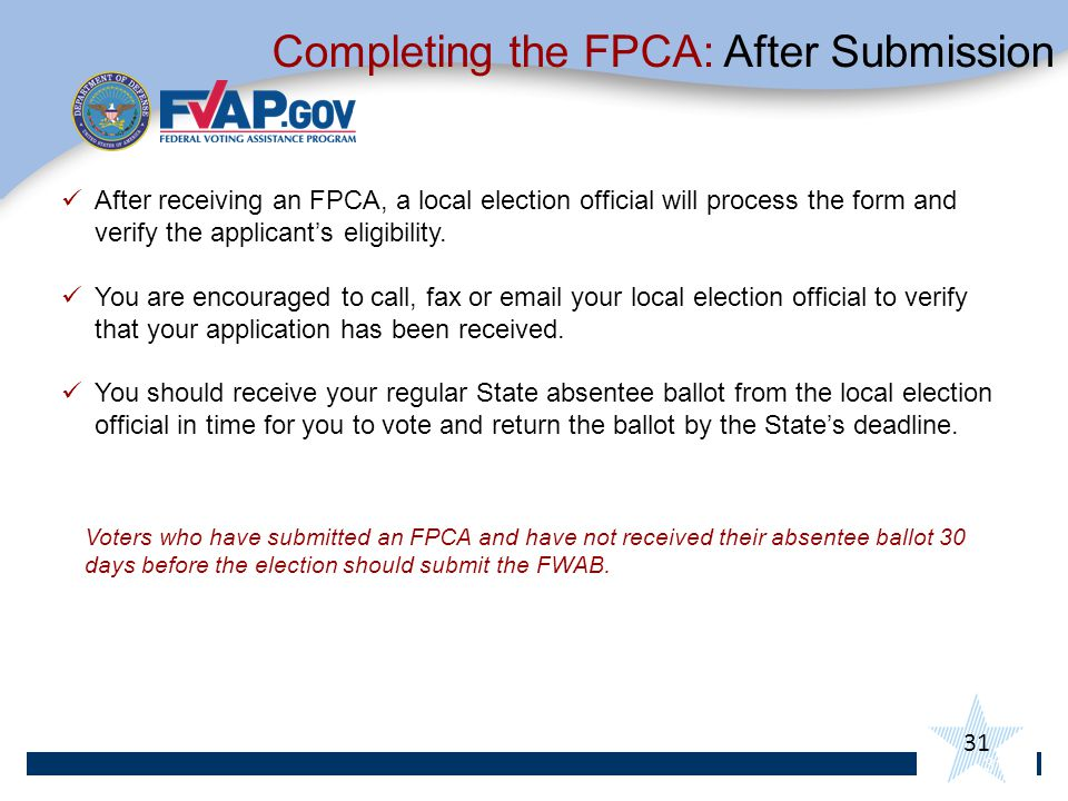 Completing the FPCA: After Submission