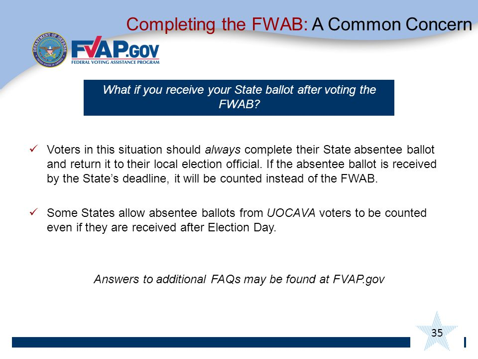 Completing the FWAB: A Common Concern