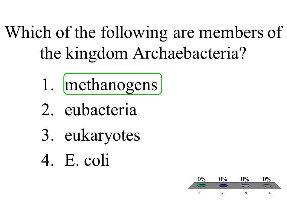 Which of the following are members of the kingdom Archaebacteria