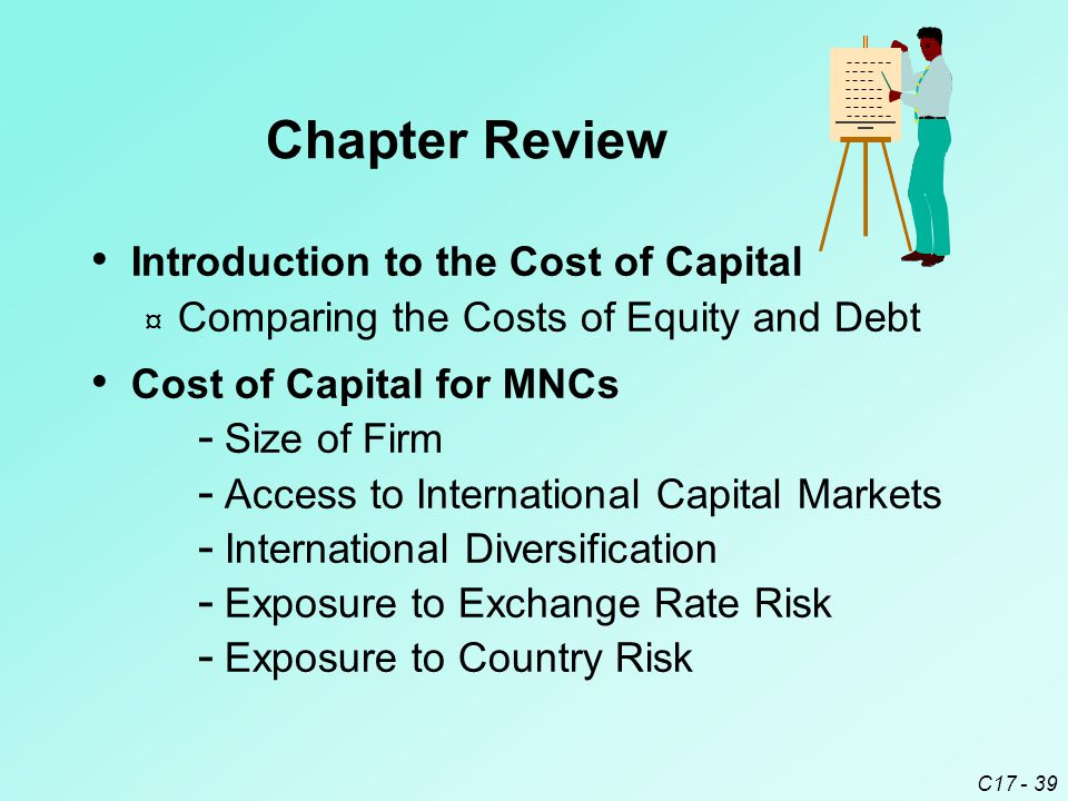 Chapter Review Introduction to the Cost of Capital