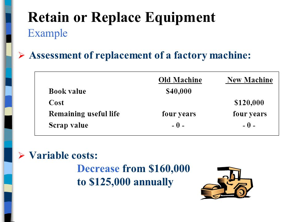 Retain or Replace Equipment Example