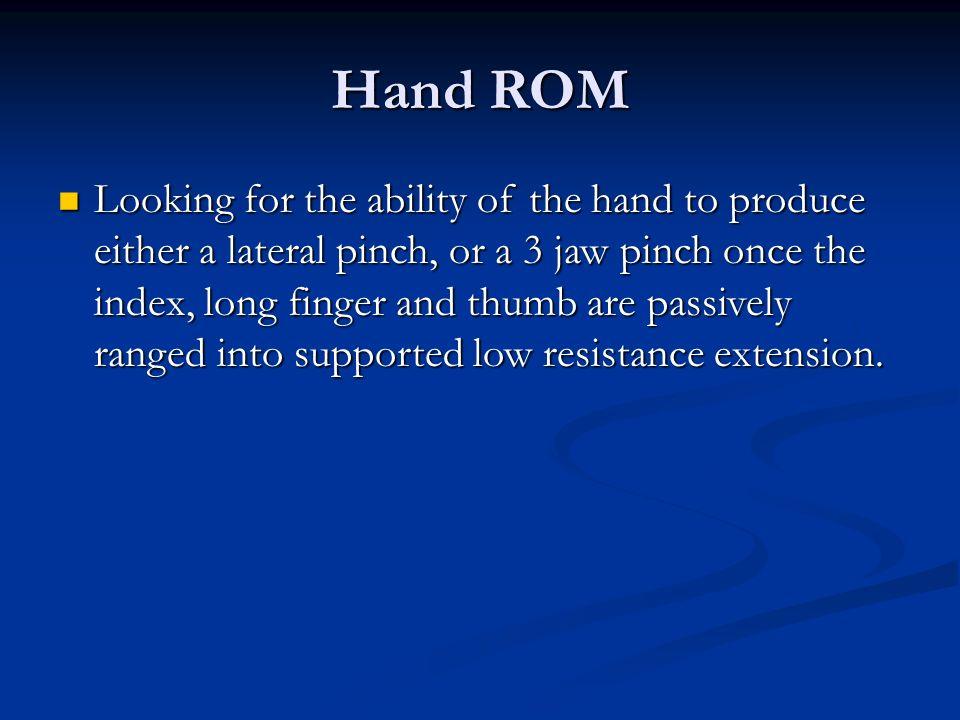 Hand ROM