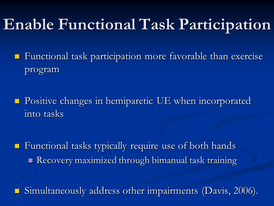 Enable Functional Task Participation