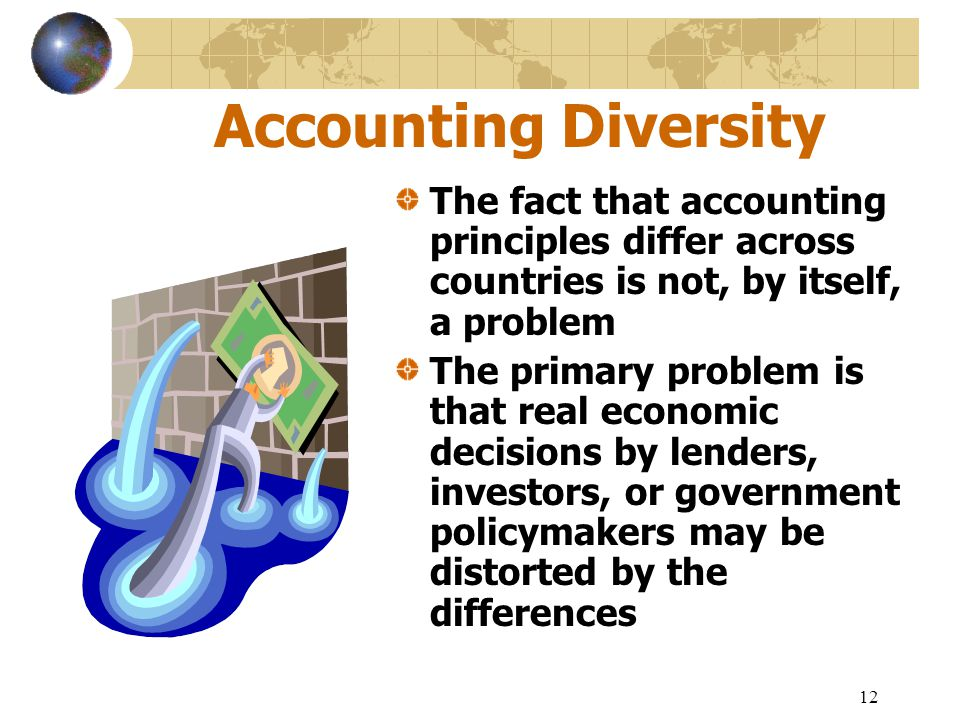Accounting Diversity The fact that accounting principles differ across countries is not, by itself, a problem.