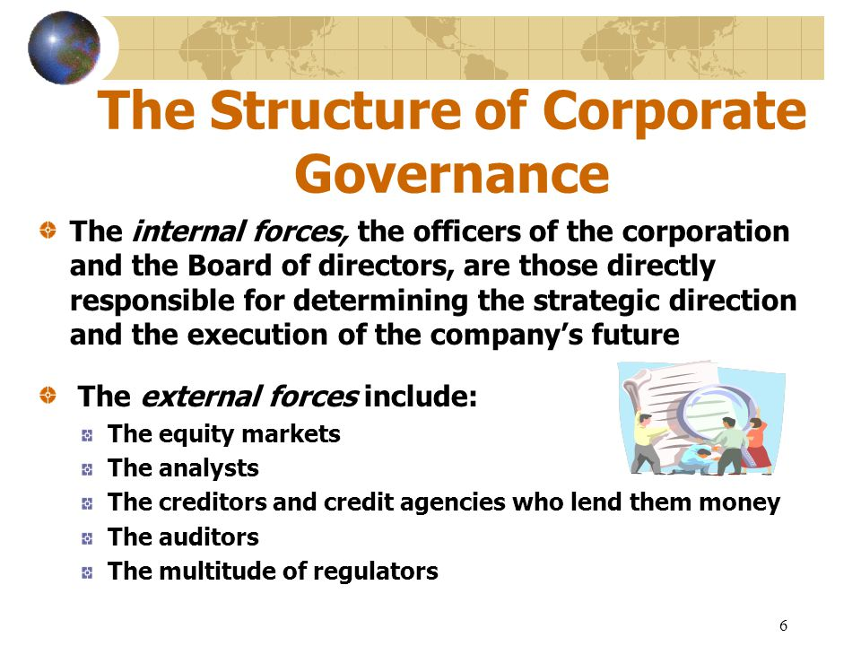 The Structure of Corporate Governance