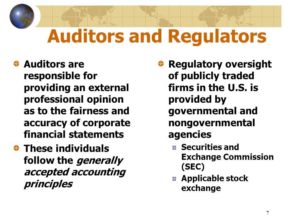 Auditors and Regulators