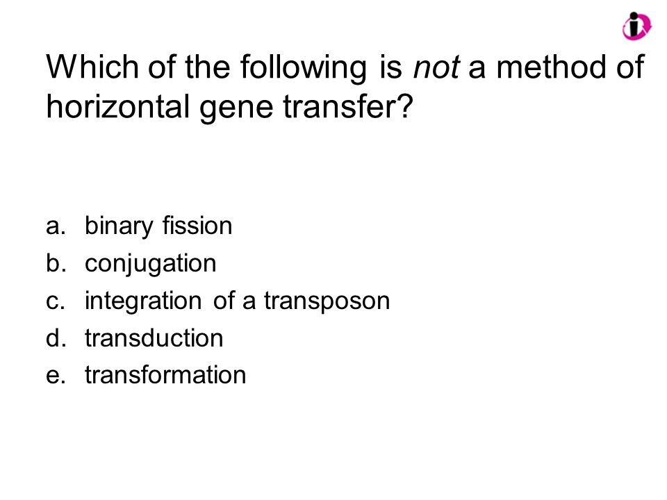 Which of the following is not a method of horizontal gene transfer
