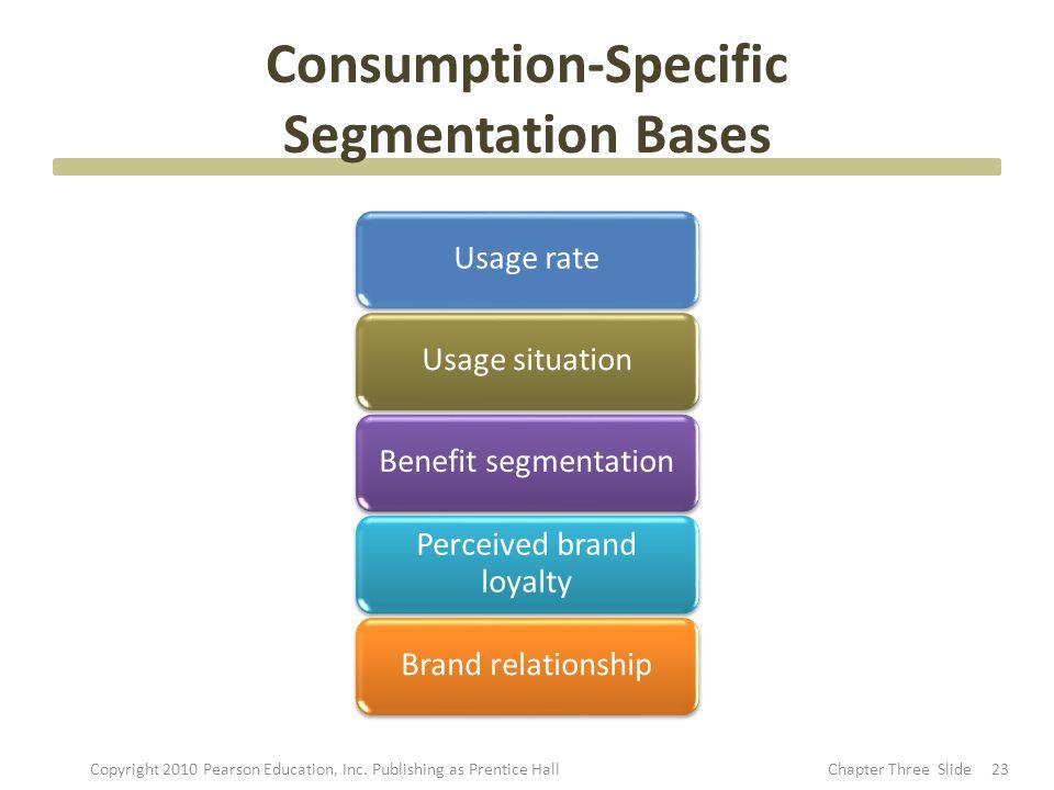 Consumption-Specific Segmentation Bases