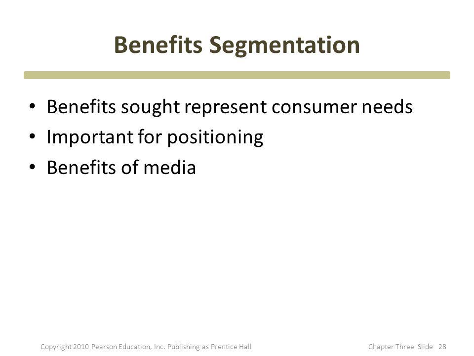 Benefits Segmentation