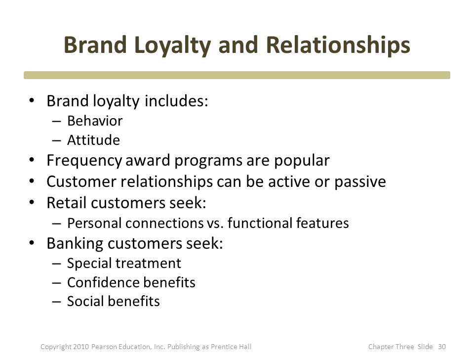 Brand Loyalty and Relationships