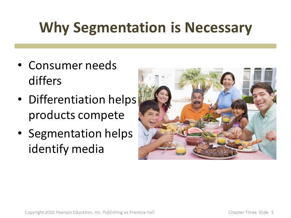 Why Segmentation is Necessary