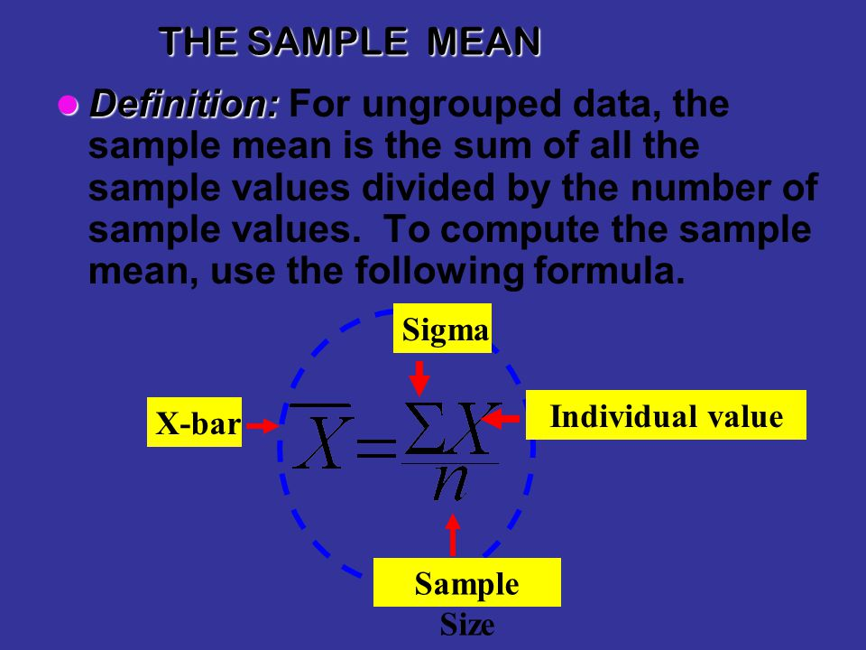 THE SAMPLE MEAN