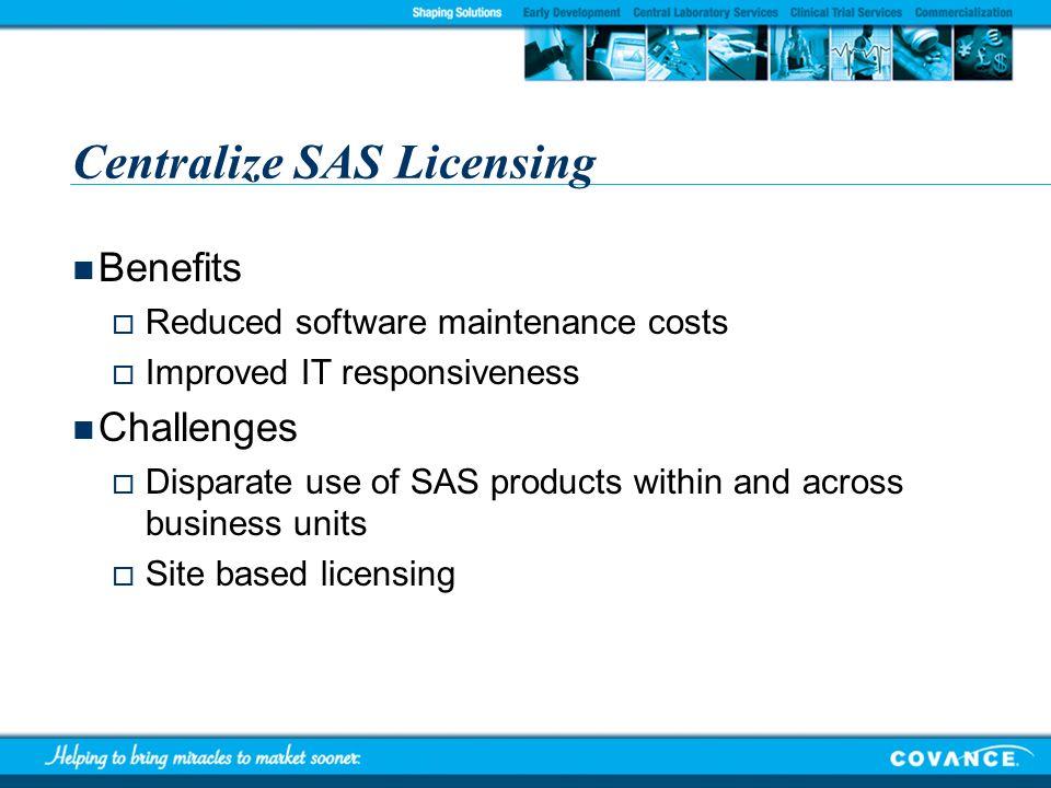 Centralize SAS Licensing