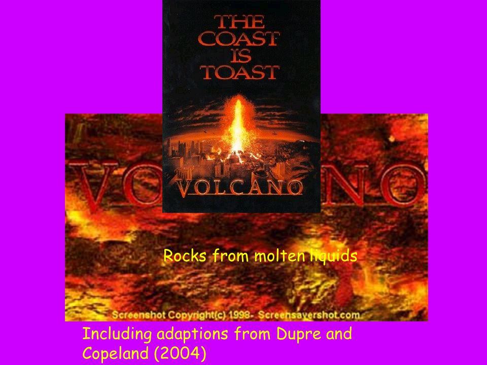 Chapter 5 : Rocks from molten liquids