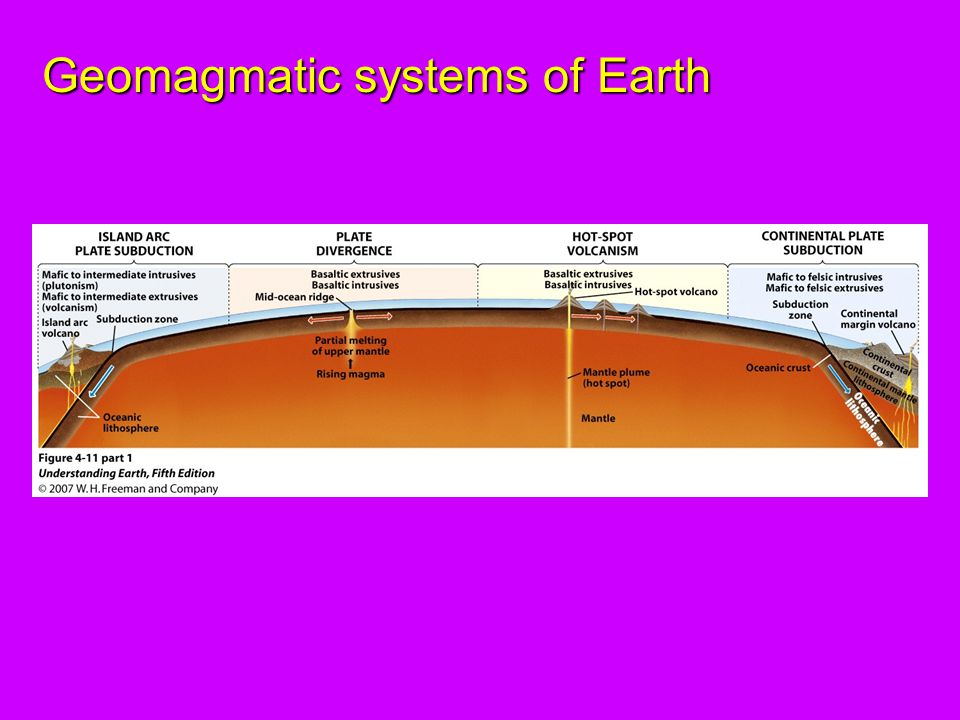 Geomagmatic systems of Earth