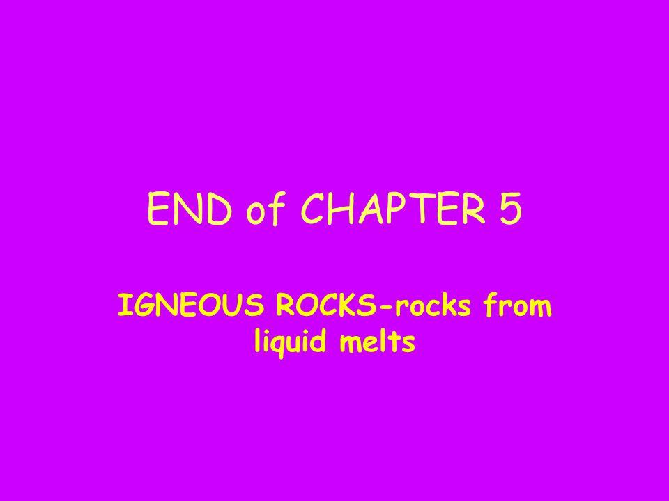 IGNEOUS ROCKS-rocks from liquid melts