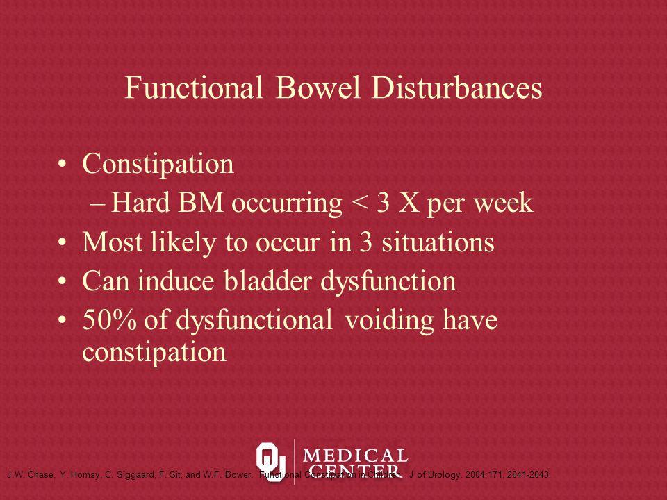 Functional Bowel Disturbances