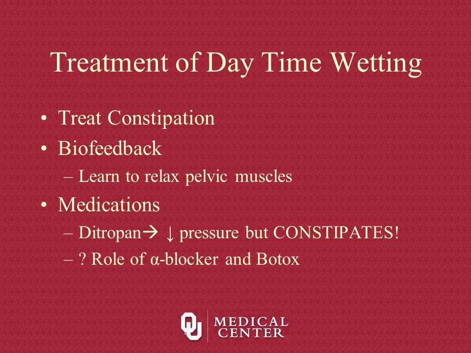 Treatment of Day Time Wetting