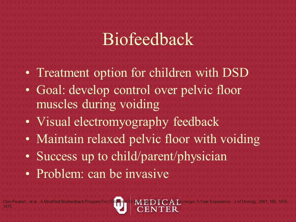 Biofeedback Treatment option for children with DSD