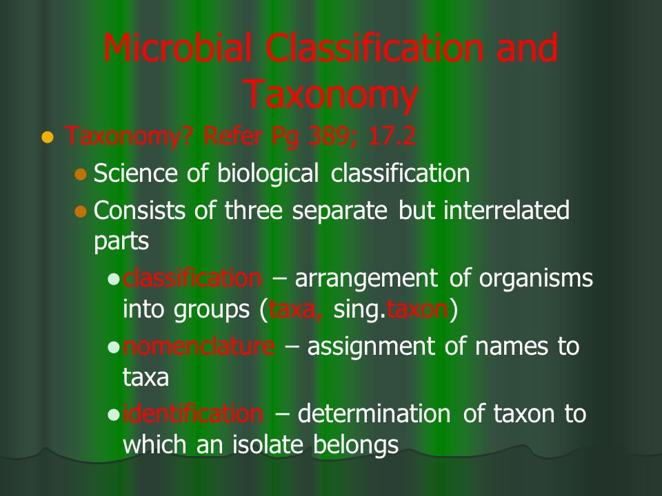 Microbial Classification and Taxonomy