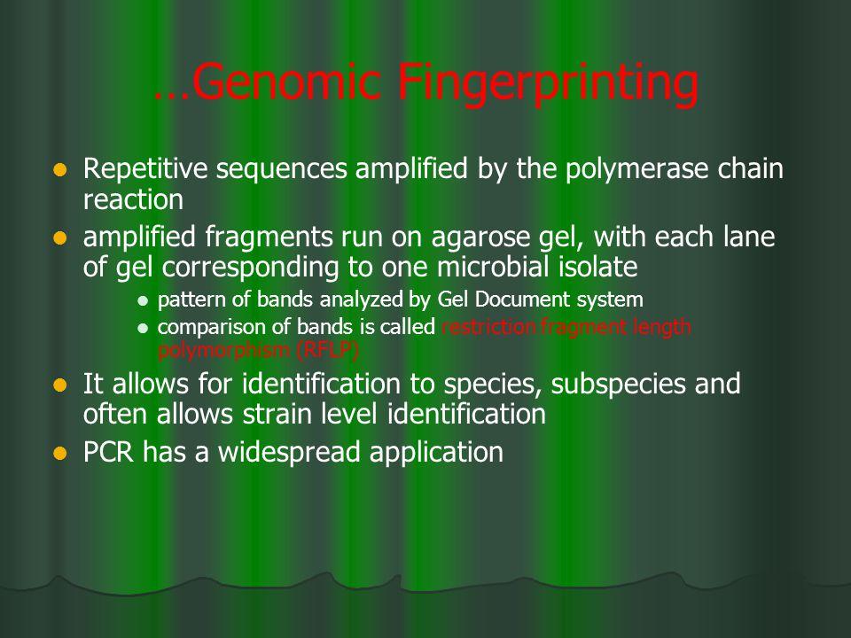…Genomic Fingerprinting