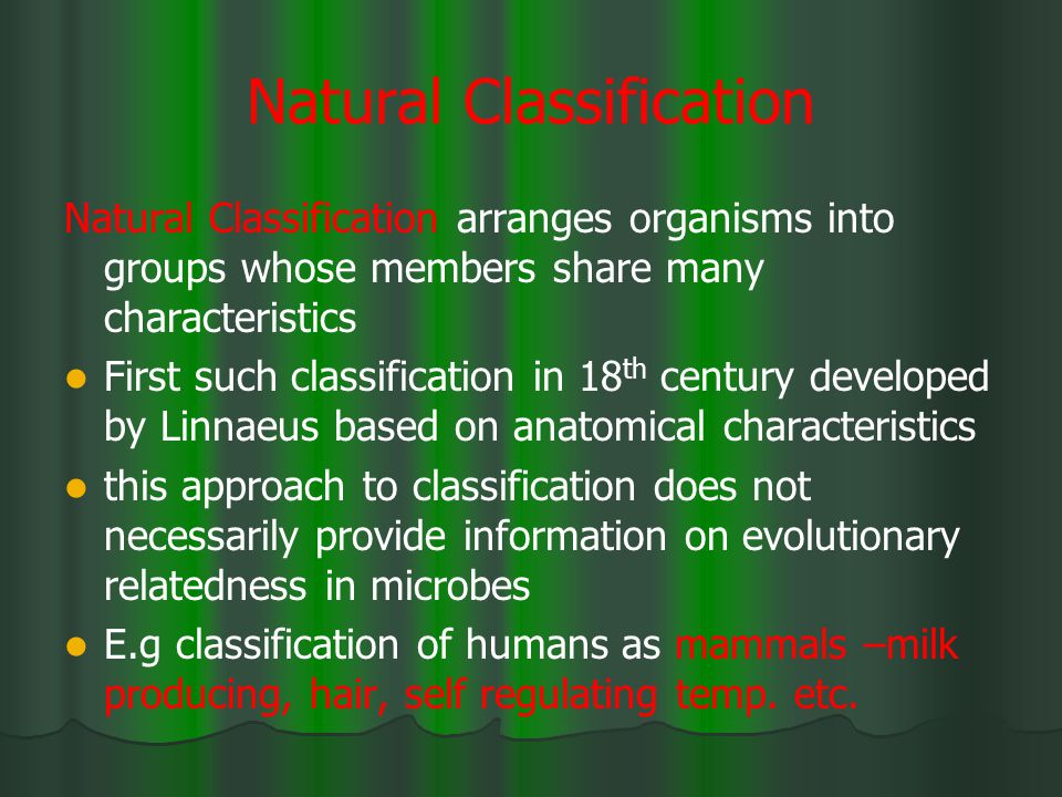 Natural Classification
