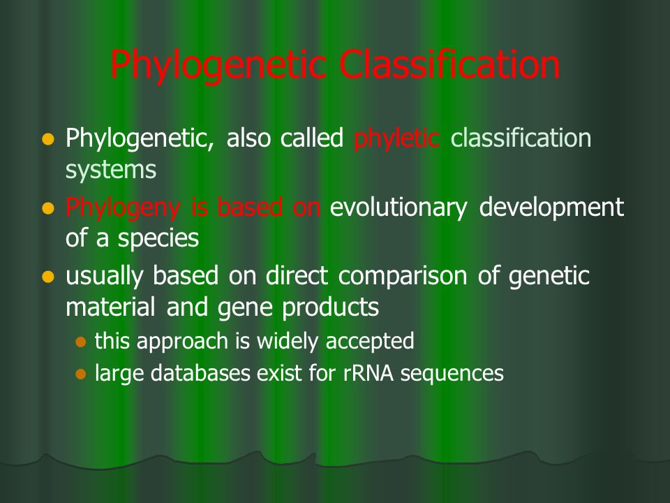 Phylogenetic Classification