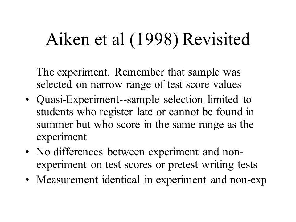 Aiken et al (1998) Revisited