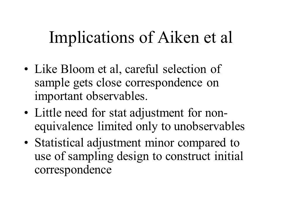 Implications of Aiken et al