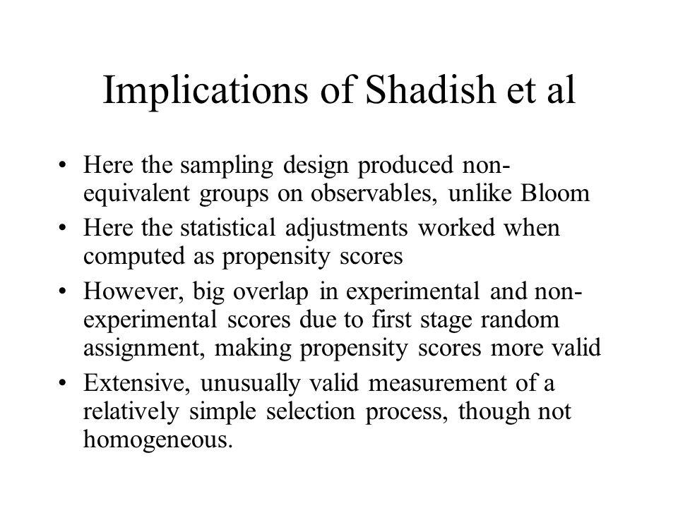 Implications of Shadish et al