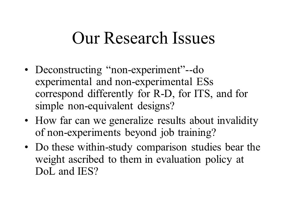 Our Research Issues