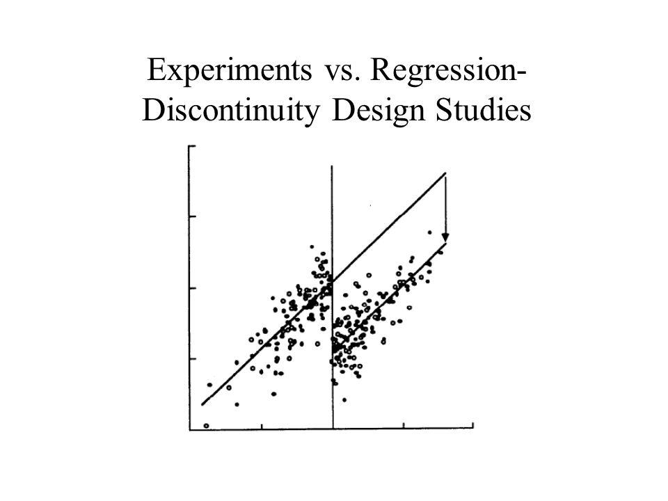 Experiments vs. Regression-Discontinuity Design Studies
