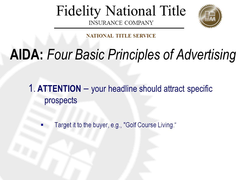 AIDA: Four Basic Principles of Advertising