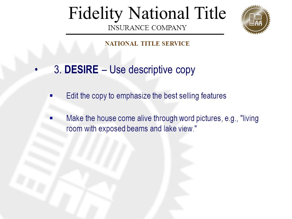 3. DESIRE – Use descriptive copy