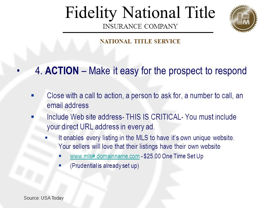4. ACTION – Make it easy for the prospect to respond