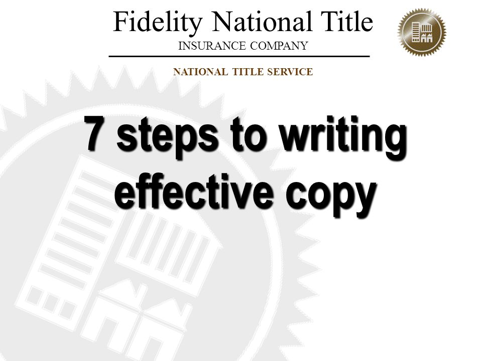 7 steps to writing effective copy