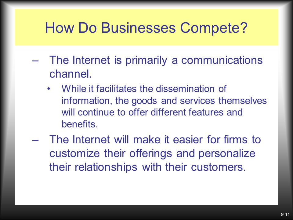 How Do Businesses Compete