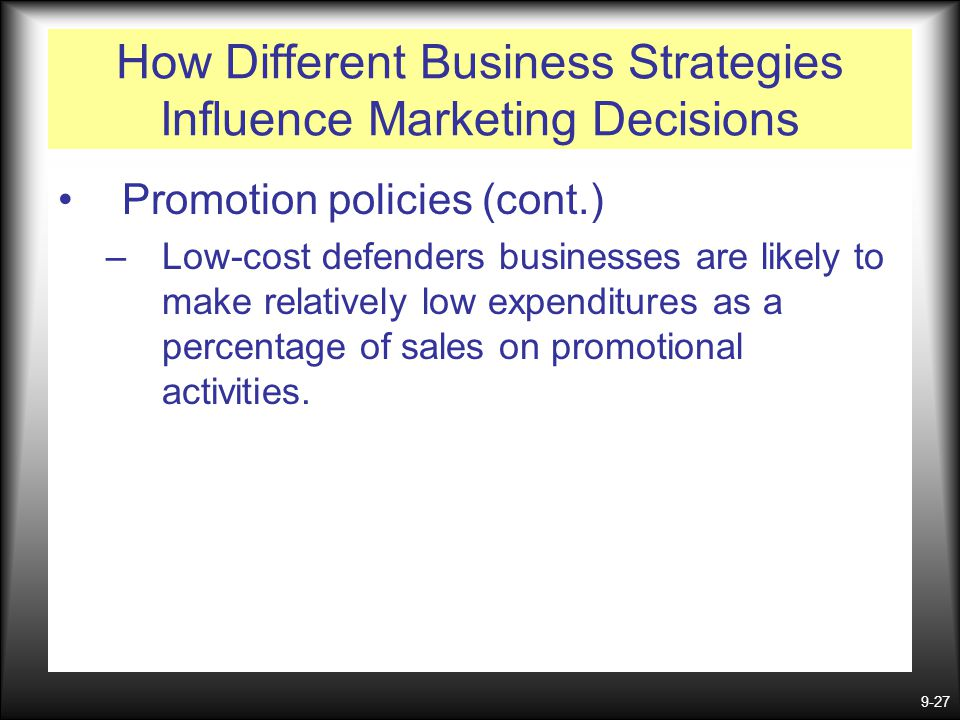 How Different Business Strategies Influence Marketing Decisions