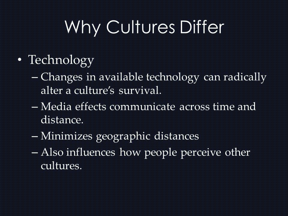 Why Cultures Differ Technology