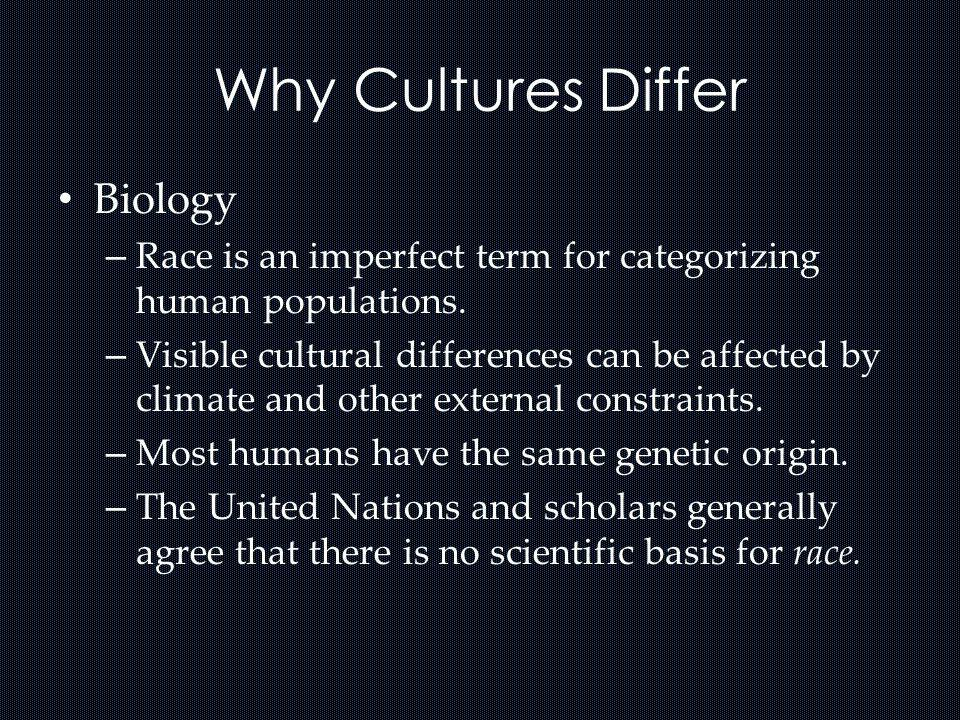 Why Cultures Differ Biology