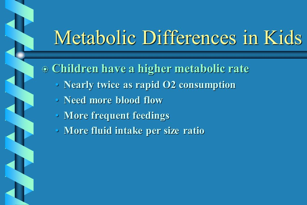 Metabolic Differences in Kids