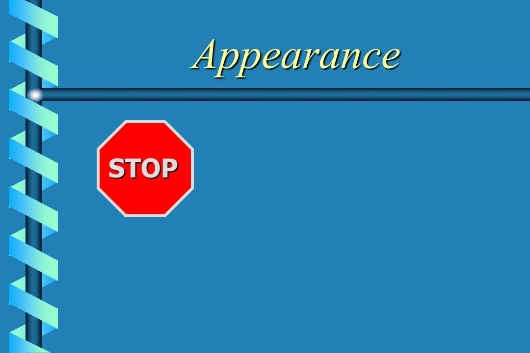 Appearance STOP