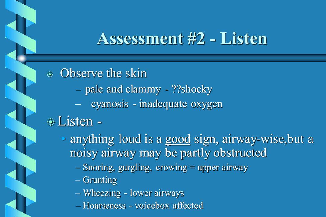 Assessment #2 - Listen Listen -