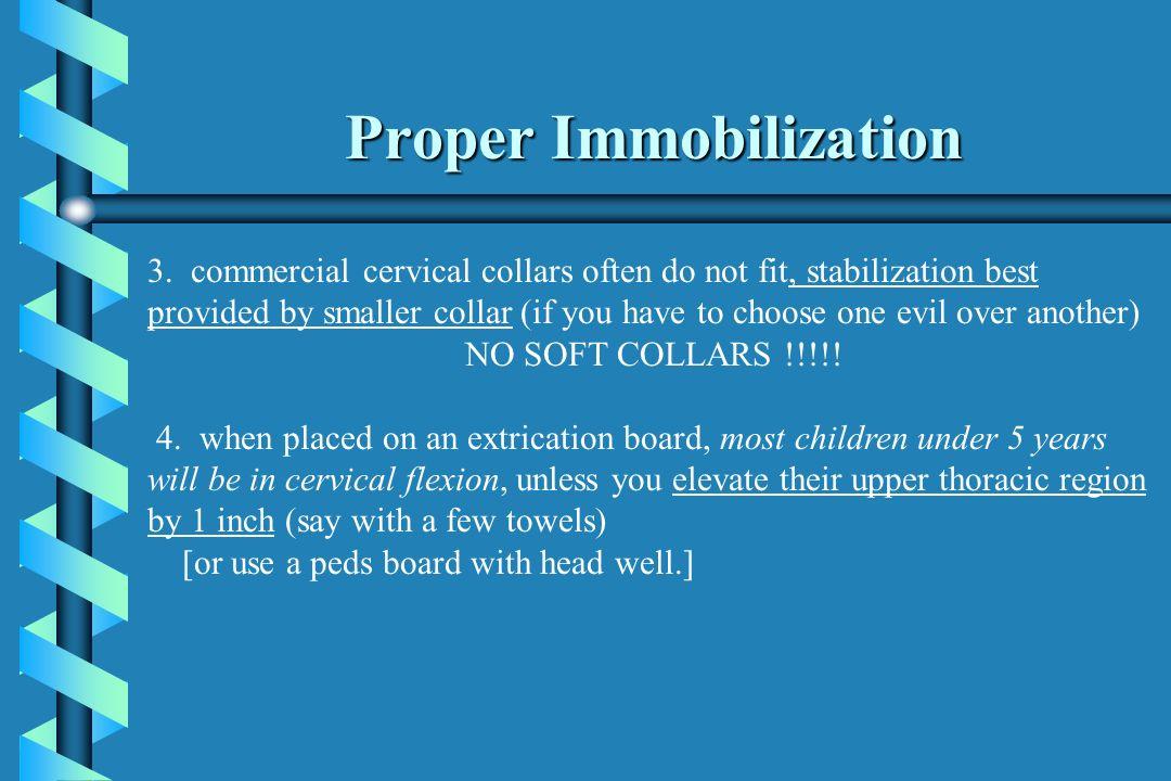 Proper Immobilization